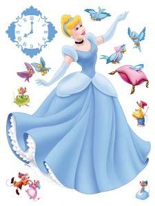 """Maxi sticker XXL da parete per bambini con cenerentola """"Cinderella"""" Decorama"""