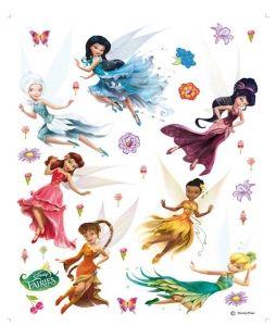 """Maxi sticker XXL da parete per bambini """"Fairies"""" con personaggi Decorama"""