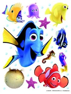 """Maxi sticker XXL da parete per bambini alfabeto """"Nemo"""" Decorama"""