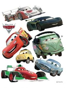 """Maxi sticker XXL da parete per bambini alfabeto """"cars"""" Decorama"""
