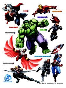 """Maxi sticker XXL da parete per bambini """"avengers"""" Decorama"""