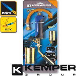 Kit cannello con tubo, impugnatura e beccucci Ø 20 mm, Ø 30 mm, Ø 45 mm per saldatura a bombola Kemper