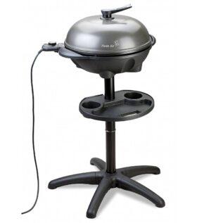 Barbecue elettrico con coperchio da tavola o su piedistallo con griglia antiaderente PleinAir Pratic