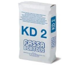 Intonaco di fondo fibrorinforzato a base di calce e cemento per interni Fassa Bortolo KD2