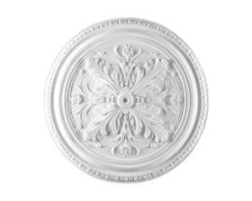 Rosone in gesso colore bianco diametro 52 cm Toscan Stucchi Linea Gesso Art. 295