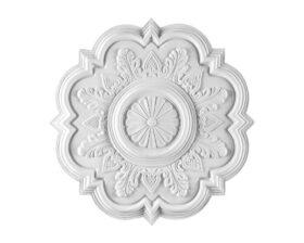 Rosone in gesso colore bianco diametro 51 cm Toscan Stucchi Linea Gesso Art. 295