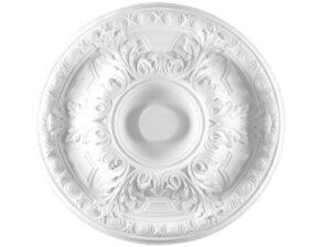 Rosone in gesso colore bianco diametro 50 cm Toscan Stucchi Linea Gesso Art. 382