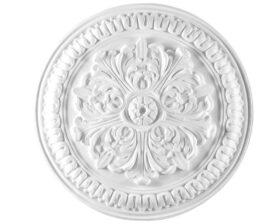 Rosone in gesso colore bianco diametro 46,5 cm Toscan Stucchi Linea Gesso Art. 300