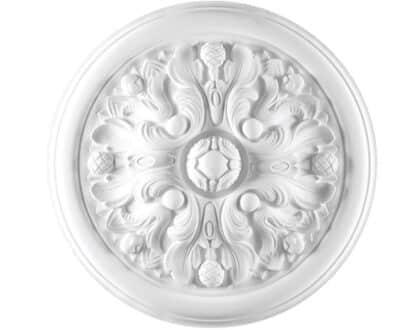 Rosone in gesso colore bianco diametro 46 cm Toscan Stucchi Linea Gesso Art. 851