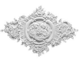 Rosone in gesso colore bianco dimensioni 42 x 59 cm Toscan Stucchi Linea Gesso Art. 856
