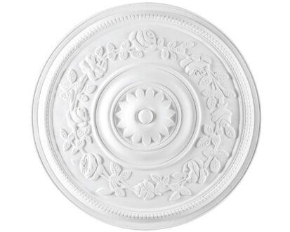 Rosone in gesso colore bianco diametro 39 cm Toscan Stucchi Linea Gesso Art. 311