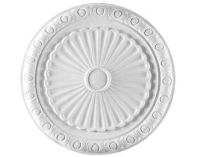 Rosone in gesso colore bianco diametro 37 cm Toscan Stucchi Linea Gesso Art. 864