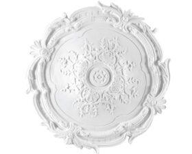 Rosone in gesso colore bianco diametro 39 cm Toscan Stucchi Linea Gesso Art. 251