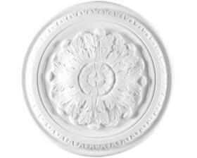 Rosone in gesso colore bianco diametro 40 cm Toscan Stucchi Linea Gesso Art. 242