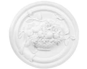 Bassorilievo in gesso colore bianco diametro 65 cm Toscan Stucchi Linea Gesso Art. 1325