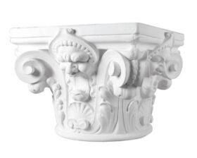 Capitello in in gesso per colonne diametro 28 cm Toscan Stucchi Linea Gesso Art. 960