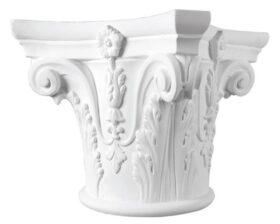 Capitello corinzio in gesso per colonne diametro 28 cm Toscan Stucchi Linea Gesso Art. 1051