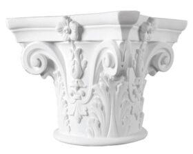 Capitello in gesso per colonne diametro 22 cm Toscan Stucchi Linea Gesso Art. 957