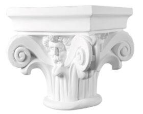 Capitello in gesso per colonne diametro 16 cm Toscan Stucchi Linea Gesso Art. 1201