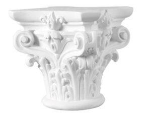 Capitello corinzio in gesso per colonne diametro 10 cm Toscan Stucchi Linea Gesso Art. 1048
