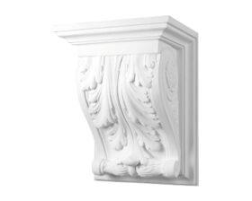 Mensola in gesso 43,5 x 33 x 24,5 cm Toscan Stucchi Linea Gesso Art. 1155
