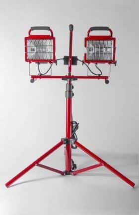 Lampada telescopica alogena con treppiede 2x400w Akifix