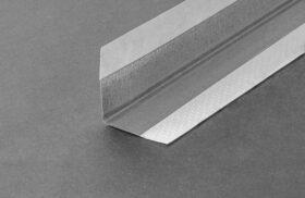 Barra paraspigolo cartongesso in carta e lamiera zincata - spessore 0,5 mm - 40 mm x 40 mm x 3,5 m