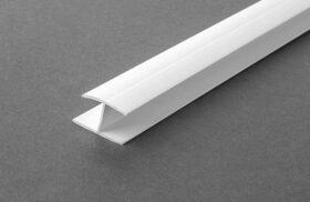 Profilo di connessione lineare per finitura estetica in pvc - spessore lastra 12.5 mm - 20 mm x 15 mm x 3 m