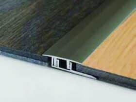 Profili di dilatazione superiore in alluminio per laminato h 7 e 8 mm Baufloor