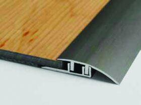 Profilo di partenza superiore in alluminio per laminato h 7 e 8 mm Baufloor - conf. 20 pz