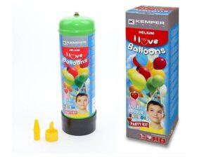 KIT bombola di elio 2,2 lt 110 bar + valvola di gonfiaggio + 30 palloncini + filo palloncini