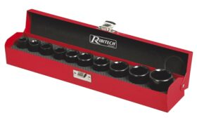 Set 10 bussole lunghezza 38 mm in cromo vanadio Ribitech