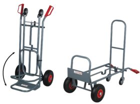 Carrello 2 in 1 orizzontale / verticale carico max 250 kg PROFESSIONALE