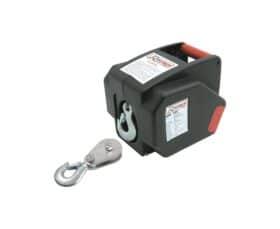 Verricello - argano - paranco elettrico 12 V 300 W + kit fissaggio su rimorchio + carrucola e fune Ribitech