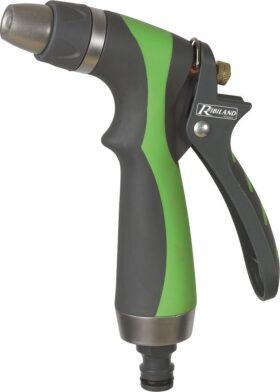 Pistola getto regolabile tri-materiale metallo plastica rivestimento soft touch Ribimex