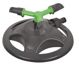 Irrigatore rotante con 3 braccia base in plastica fino a 71 mq Ribimex