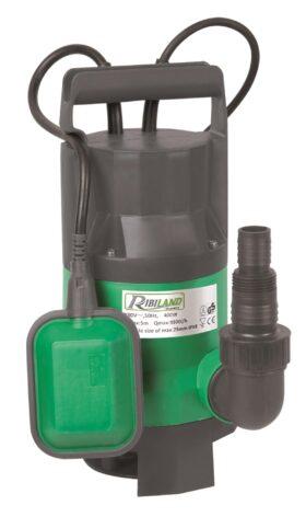 Pompa automatica sommersa con galleggiante 400 W per acque chiare Ribimex