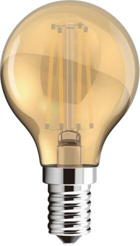 Lampadina sfera vintage led filament 15.000 ore