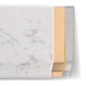 Battiscopa in pvc effetto metallo o pietra 70 x 7 x 2 mm lunghezza 2 m - CONF. 200 m - vari colori