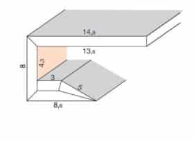 """Segnapassi led in cartongesso a """" C """" 30° per pareti e soffitti - lunghezza 200 cm"""