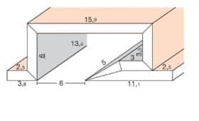 Segnapassi led in cartongesso 30° singola fonte per pareti e soffitti - lunghezza 200 cm