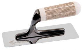 Frattone americano 200x80 mm in acciaio esclusivo anti striature nere Marmorino Tools XTROWEL