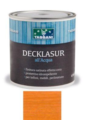 Finitura protettiva cerata all'acqua TASSANI DECKLASUR per legno antigoccia con protezione ai raggi UV - ABETE ROSSO