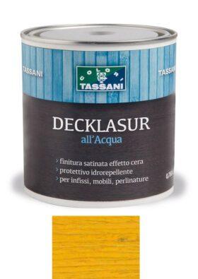 Finitura protettiva cerata all'acqua TASSANI DECKLASUR per legno antigoccia con protezione ai raggi UV - ACERO
