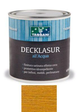 Finitura protettiva cerata all'acqua TASSANI DECKLASUR per legno antigoccia con protezione ai raggi UV - FAGGIO