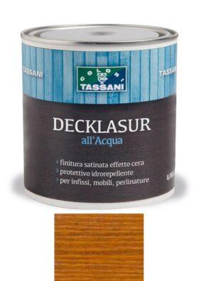 Finitura protettiva cerata all'acqua TASSANI DECKLASUR per legno antigoccia con protezione ai raggi UV - TEAK WOOD