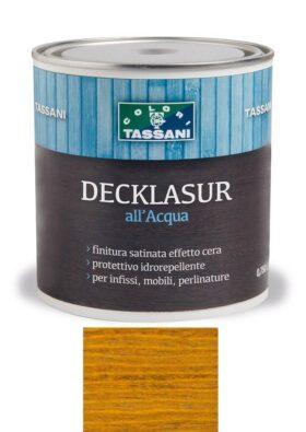 Finitura protettiva cerata all'acqua TASSANI DECKLASUR per legno antigoccia con protezione ai raggi UV - BETULLA