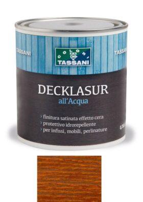 Finitura protettiva cerata all'acqua TASSANI DECKLASUR per legno antigoccia con protezione ai raggi UV - IROKO
