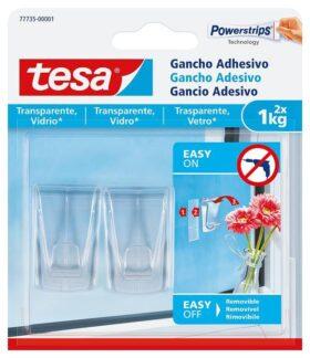Gancio adesivo per superfici trasparenti e vetro fino a 1 kg Tesa