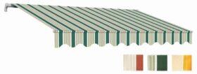 Tenda da sole avvolgibile a barra quadra 4x3 m